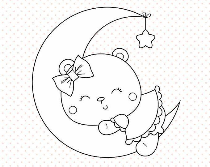 28++ Sleeping bear clipart black and white ideas