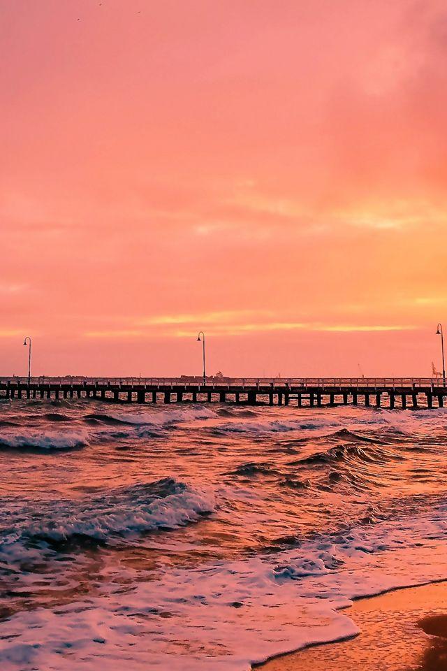 Nature Sea Sun Landscape Iphone 4s Wallpaper Beach Phone Wallpaper Sky Aesthetic Sunset Wallpaper