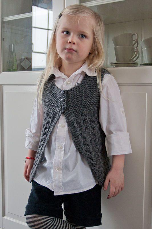 chaleco para niña   tejidos dos agujas   Pinterest   Crochet ...