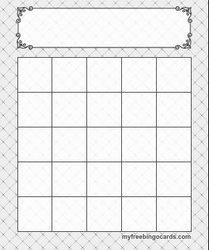 Blank bingo cards | if you want an image of a standard bingo card.