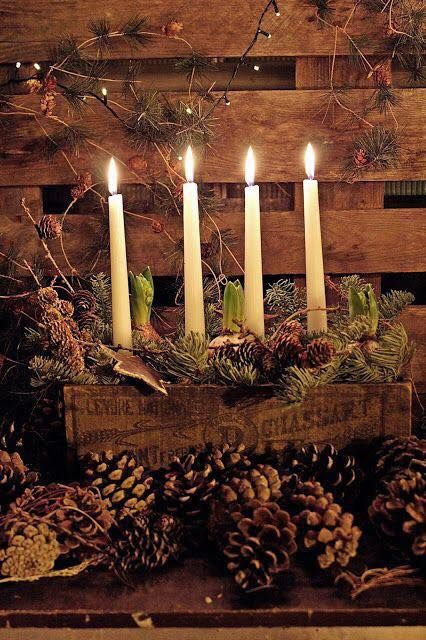 Pin by Kristine Veldon on The Wonder of Christmas   Candle arrangements, Advent candles ...
