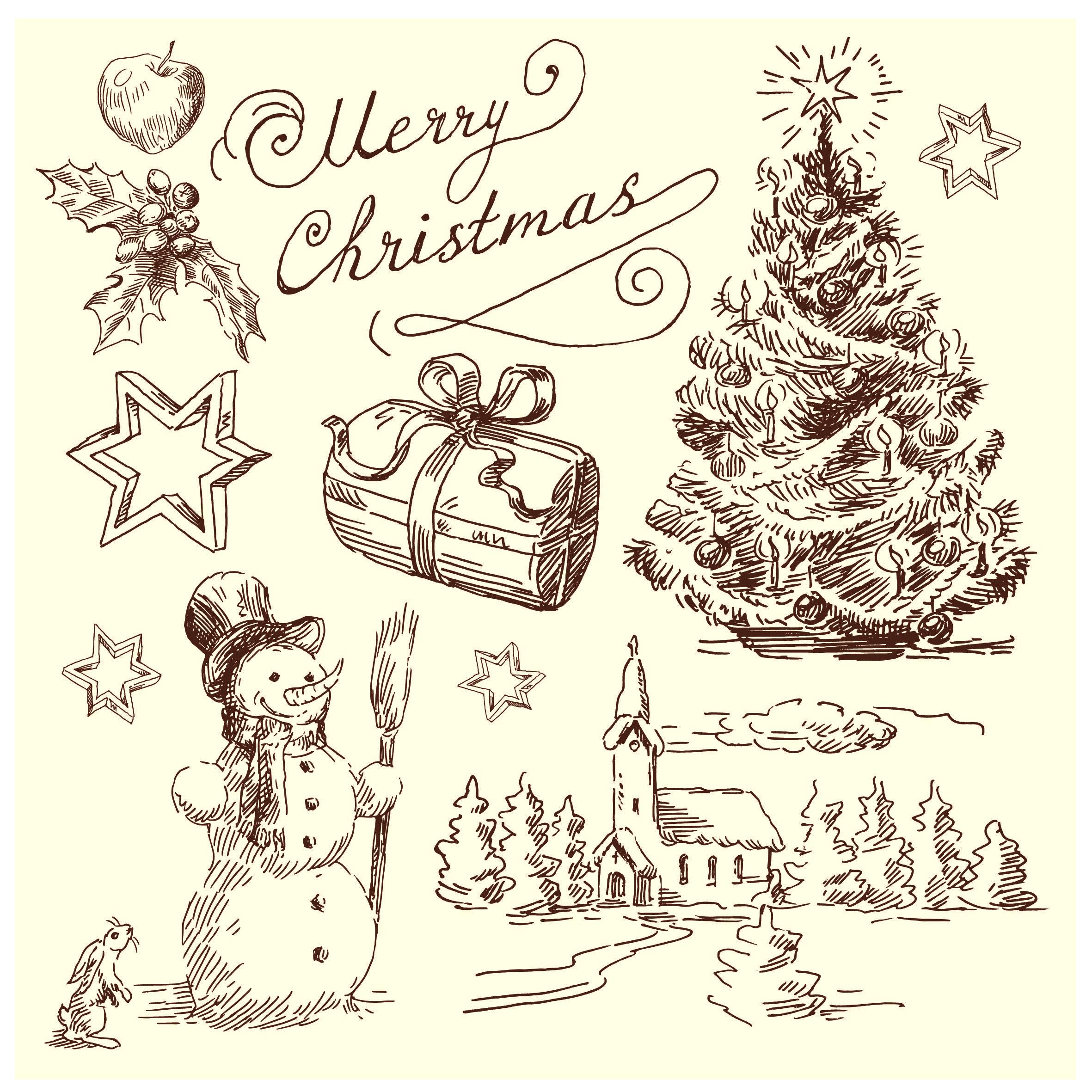 Vintage Christmas Ornament Illustration Vintage Christmas Illustration