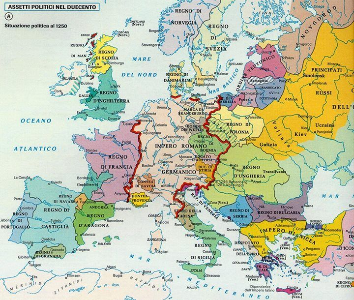 Europe in 1250 AD Maps Pinterest