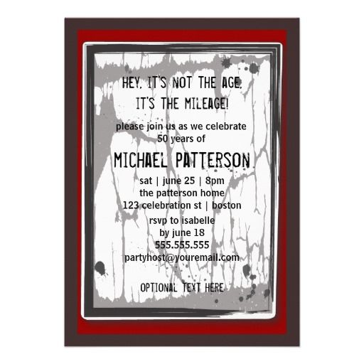 50th birthday party grungy speed limit sign invitation party ideas