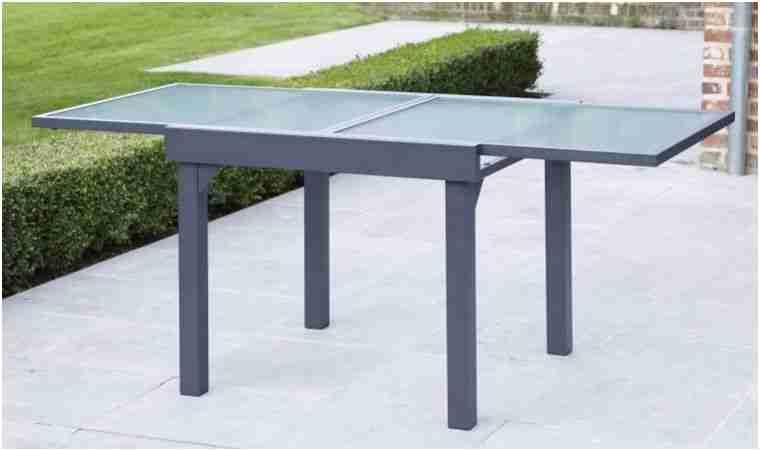 Table Jardin Grise Frais Table De Jardin Carrée Extensible ...