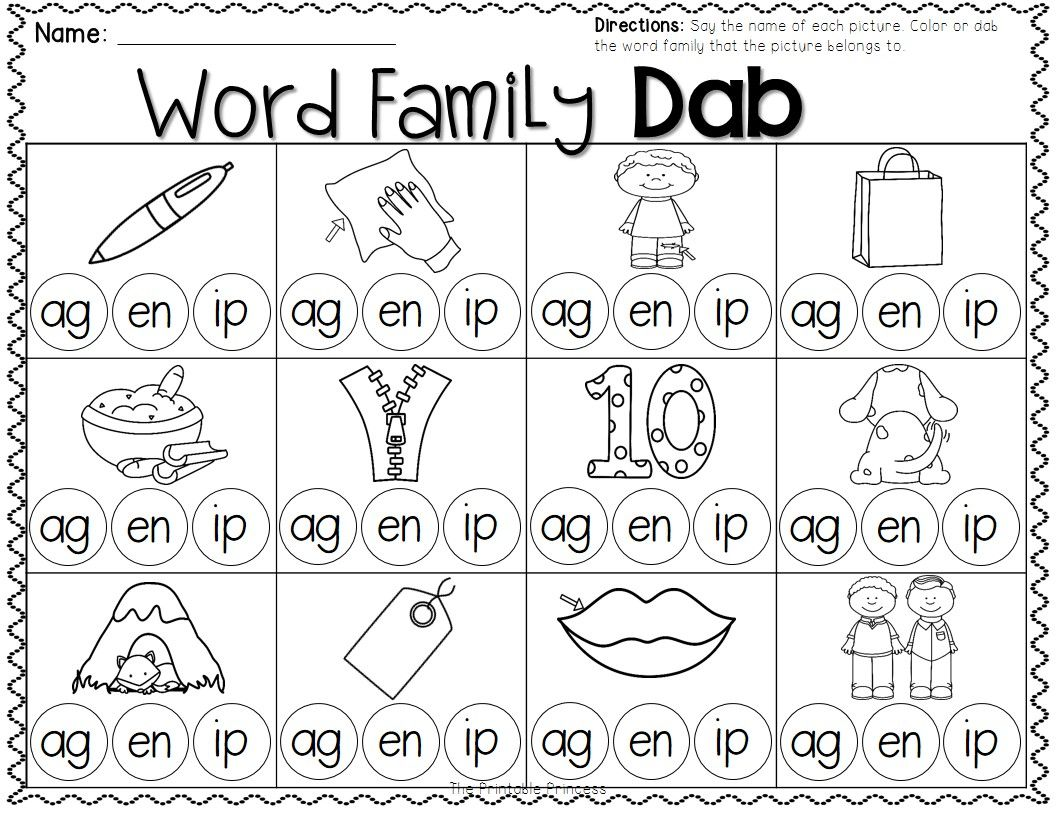 Great Practice For Word Families Kindergarten Word Families Kindergarten Word Families Worksheets Word Family Worksheets [ 816 x 1056 Pixel ]