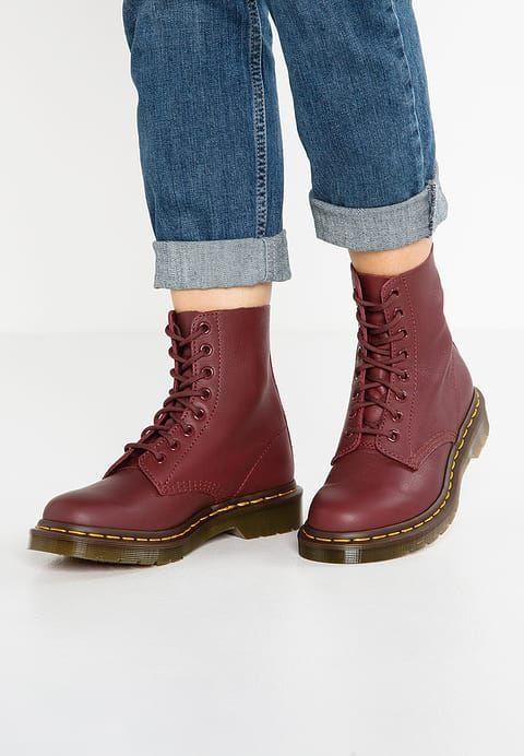 Dr. Martens Damen Pascal Combat Boots (Cherry Red Virginia