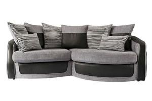Fashionable And Modern Fabric Sofa And Swivel Chair Both With Reversible  Scatter Cushions.