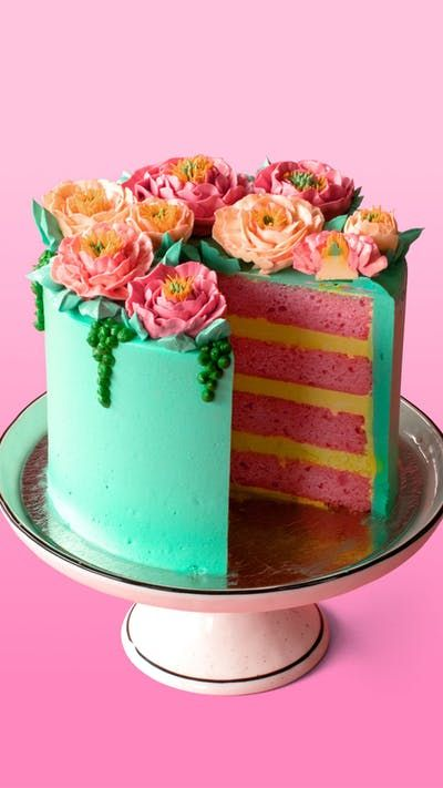 Simply Floral Cake