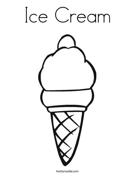 Ice Cream Coloring Page Birthdays Pinterest Ice