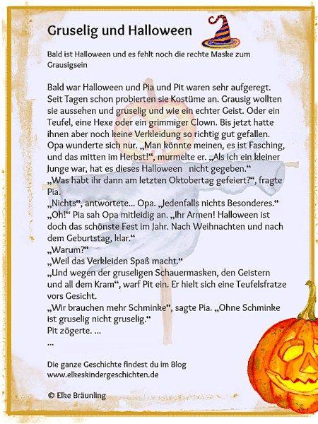Gruselig und Halloween | Halloween, Fingerspiele und Gedicht
