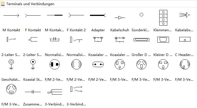 Schaltzeichen von Klemmen und Steckverbinder | Elektrische ...