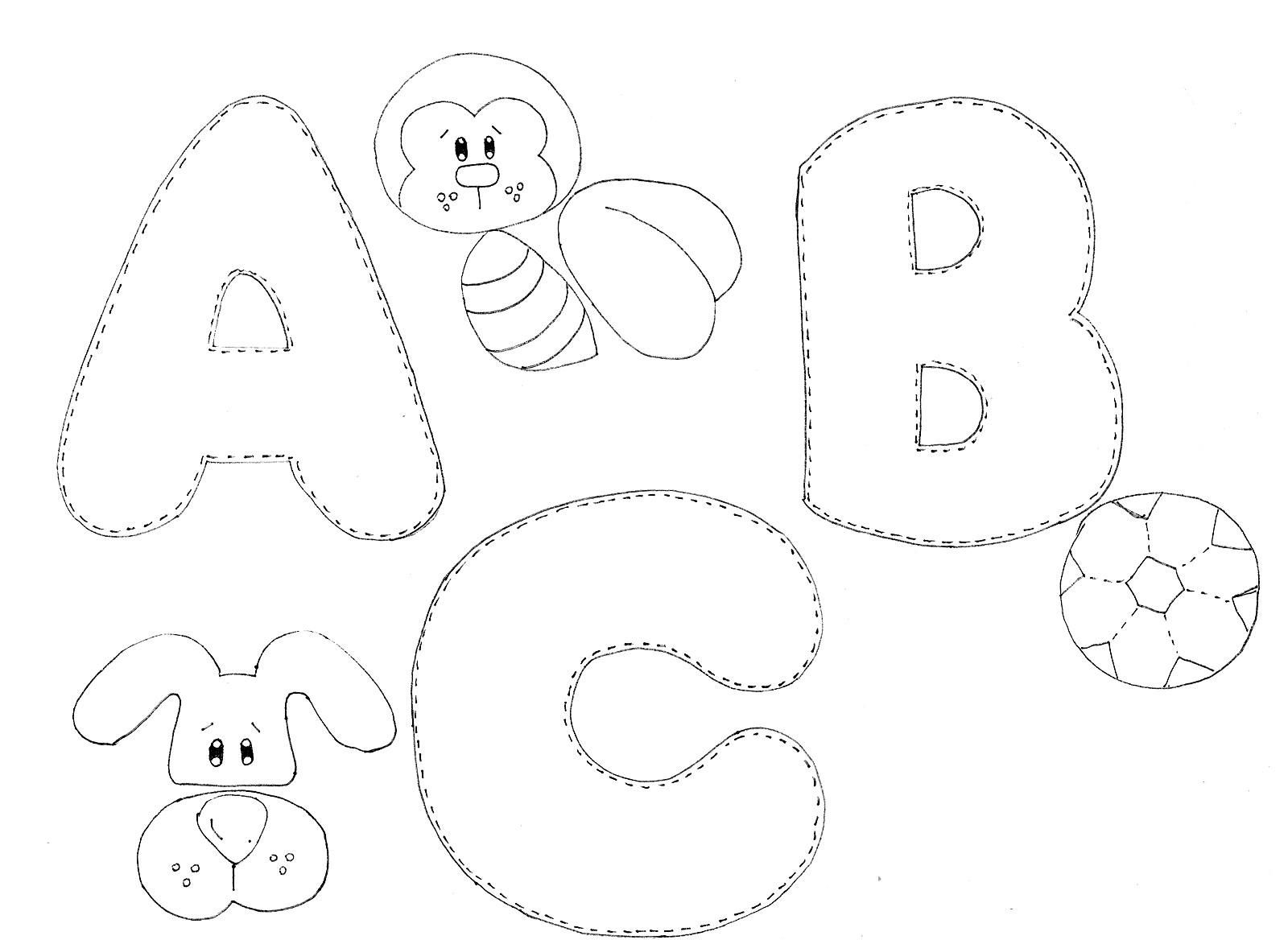 Moldes Alfabeto Ilustrado Em Eva Felt Crafts Patterns Felt Toys