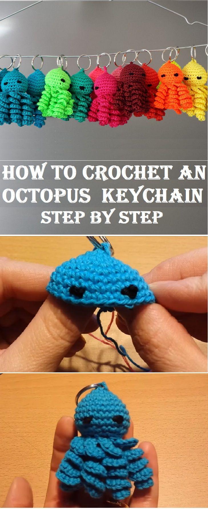 How to Crochet an Octopus Keychain Tutorial