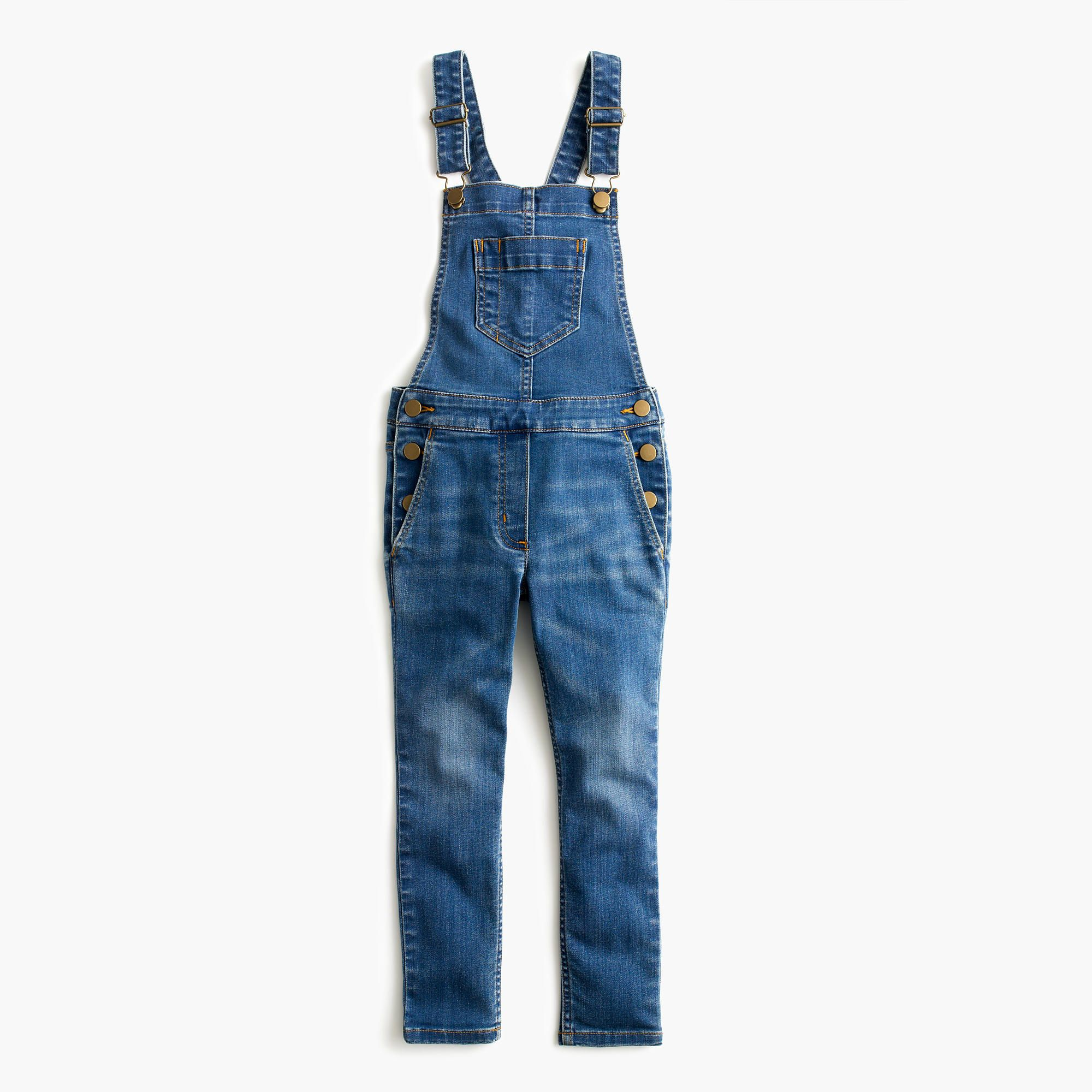 1ad56f3b1b Shop the Girls  Stretch Denim Overalls at JCrew.com and see our entire  selection