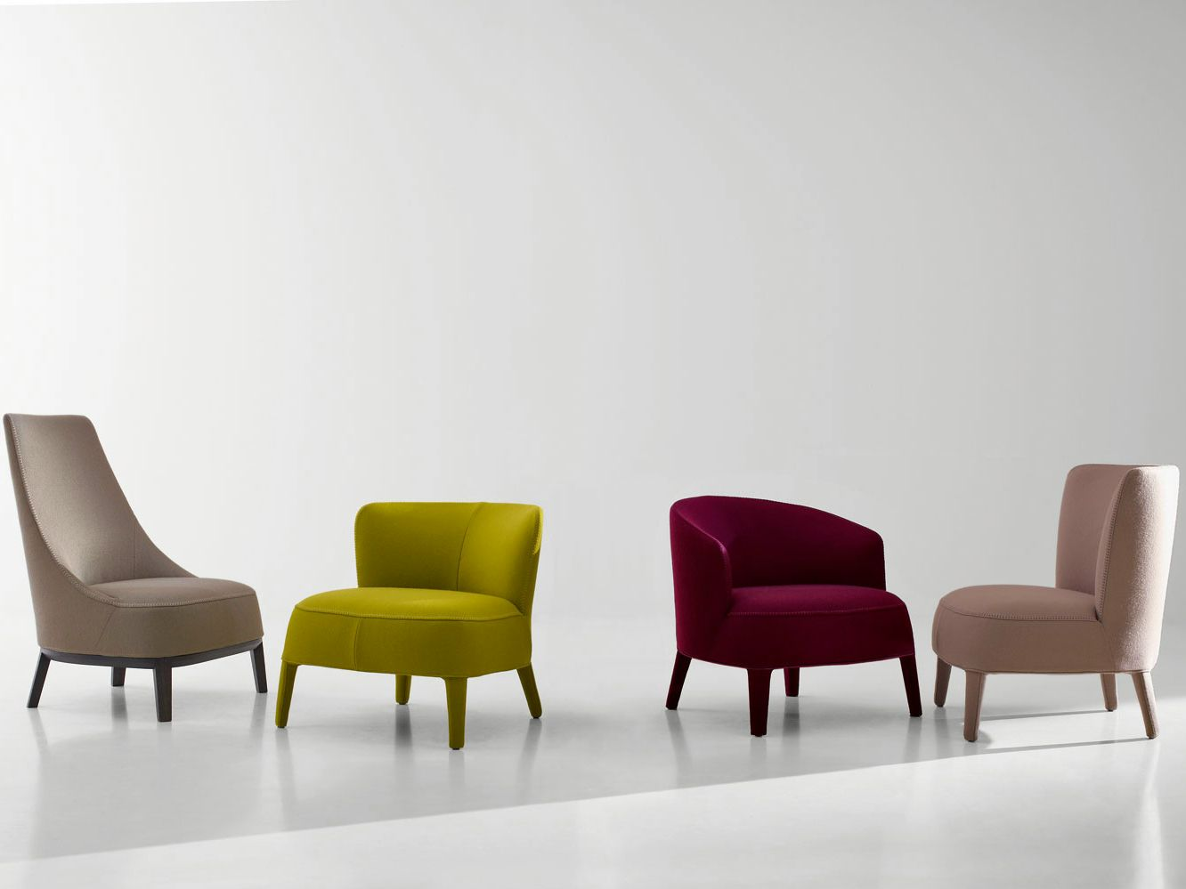 The Catalogue And Request Prices Of Febo High Back Armchair By Maxalto