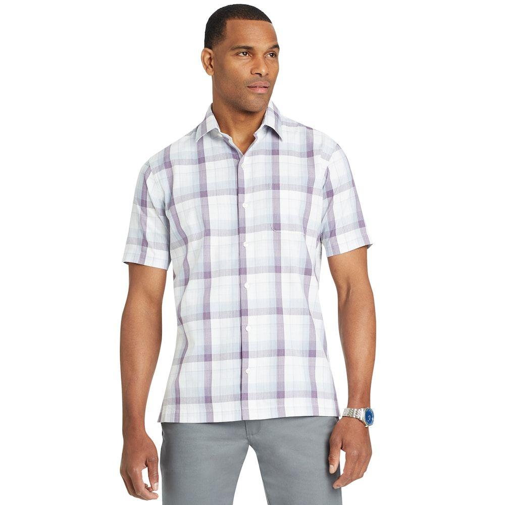 Men S Van Heusen Air Button Down Classic Fit Shirt Workout Shirts Classic Mens Tops