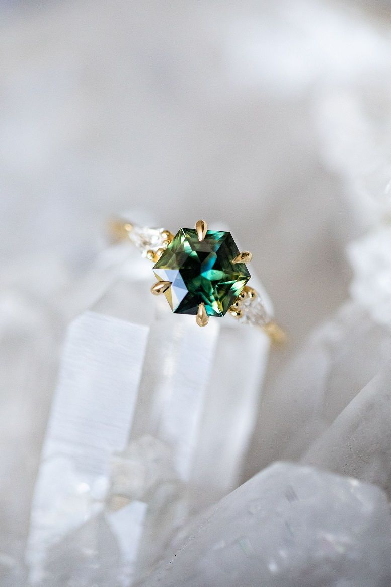 Beautiful Engagement Rings Standing Out From The Crowd , hexagon engagement ring, octagon emerald cut engagement ring