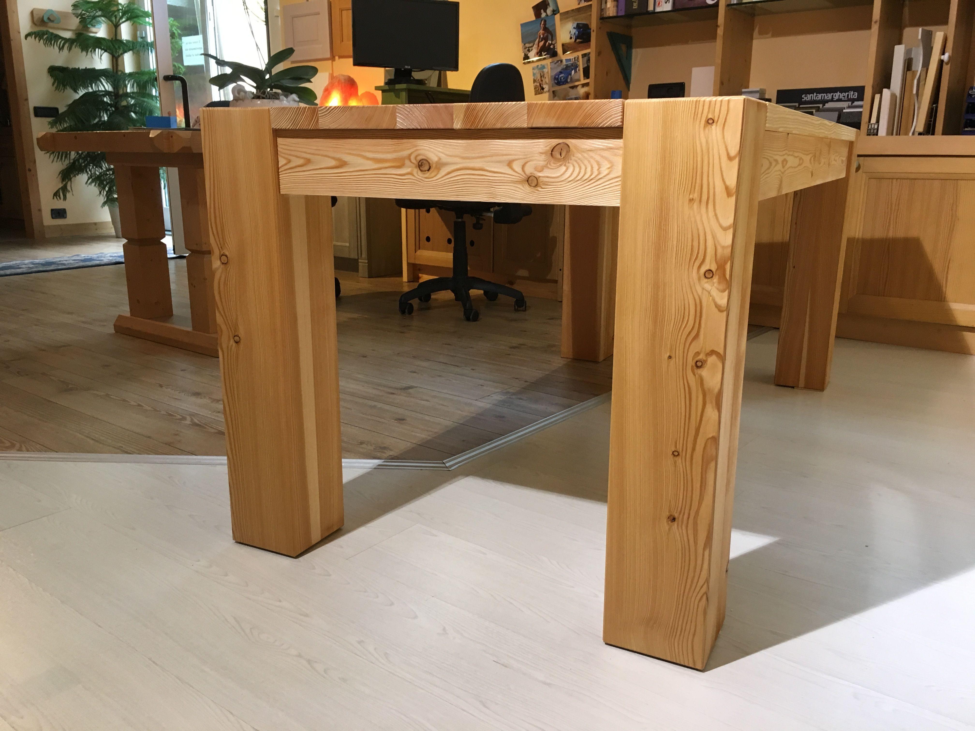 Tavolo In ~ Tavolo in larice mobili artigianali falegnameria trentini