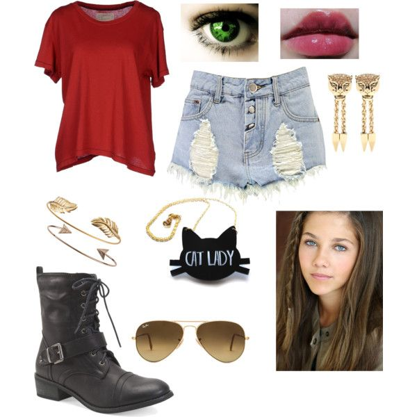 Elizabeth Anne Walker (age 12) by burger15 on Polyvore featuring…