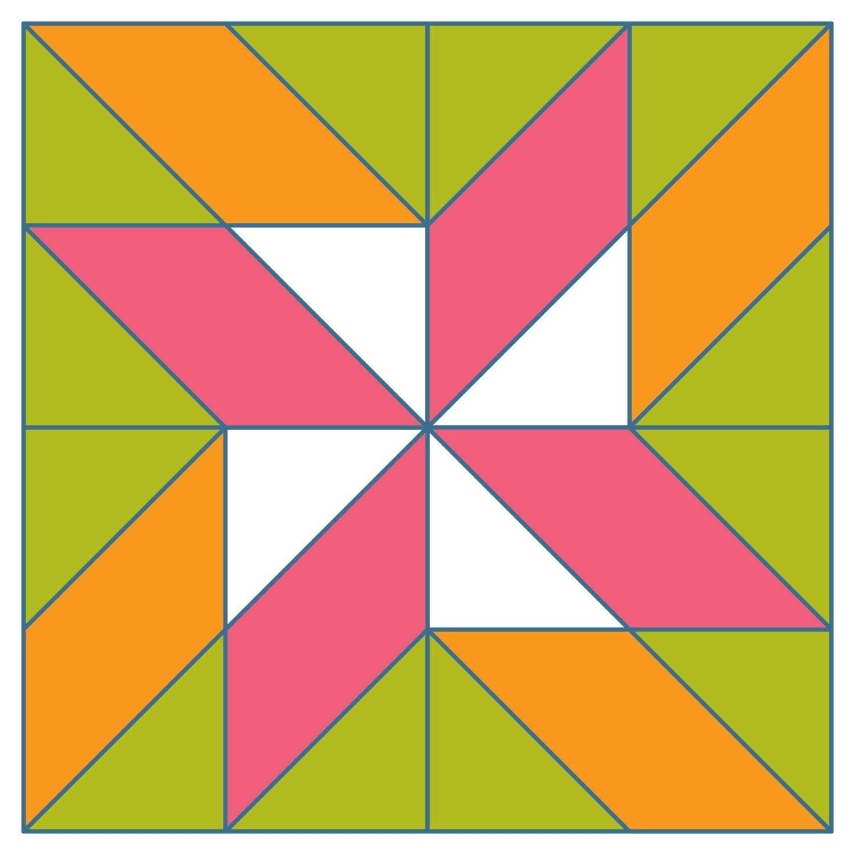 Studio Block #1: Twisted 4-Point Star | half-square triangle ... : twisted star quilt block - Adamdwight.com