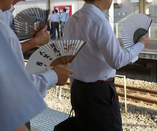 Fans are used for the humid summer season.