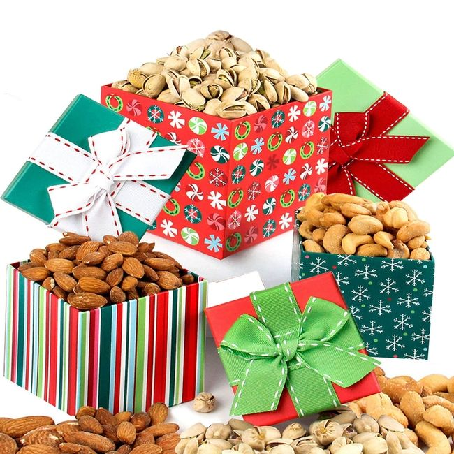 Holiday Gourmet Nuts Gift Tower $34 95 | wish list | Holiday
