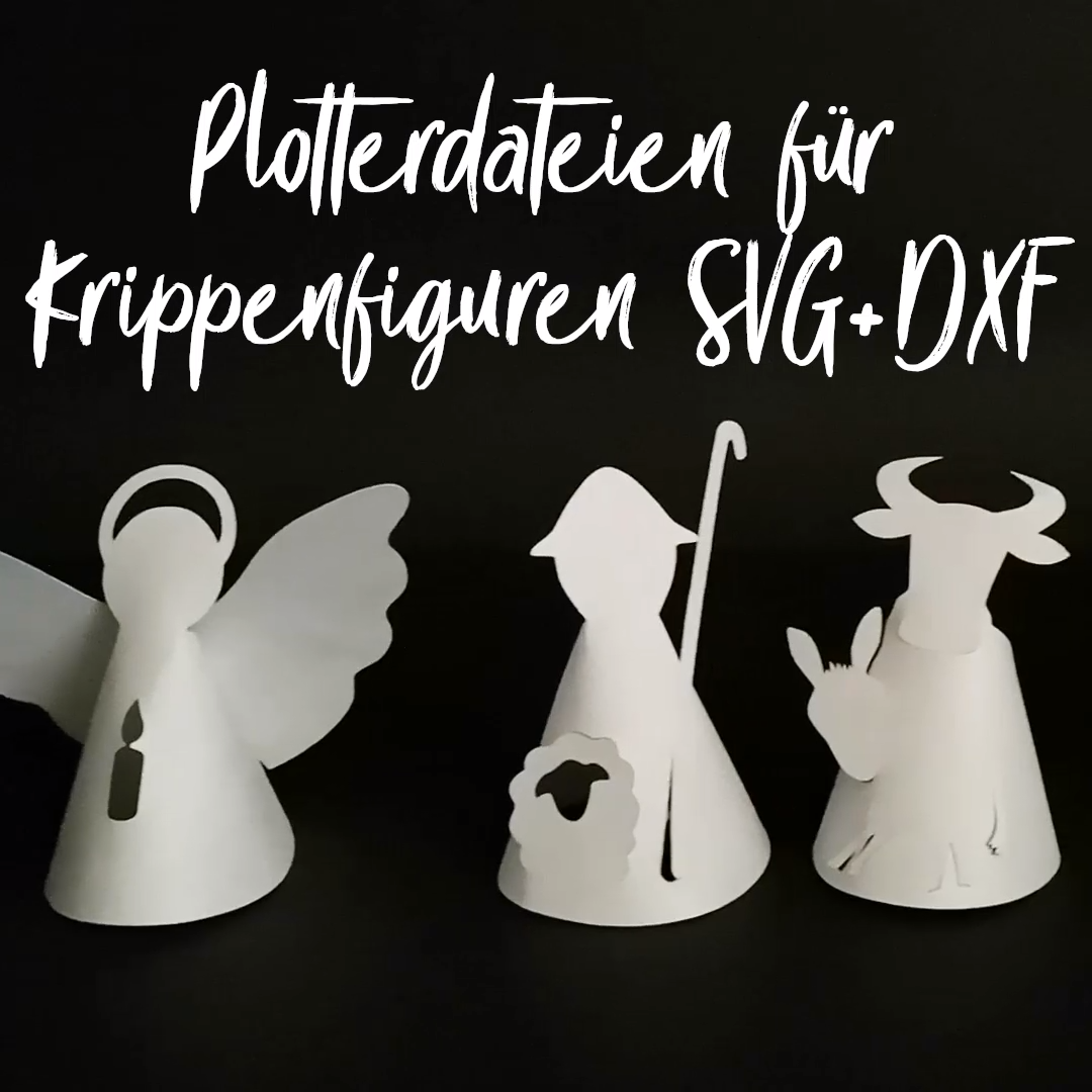 Photo of Plotter files for SVG + DXF nativity figures