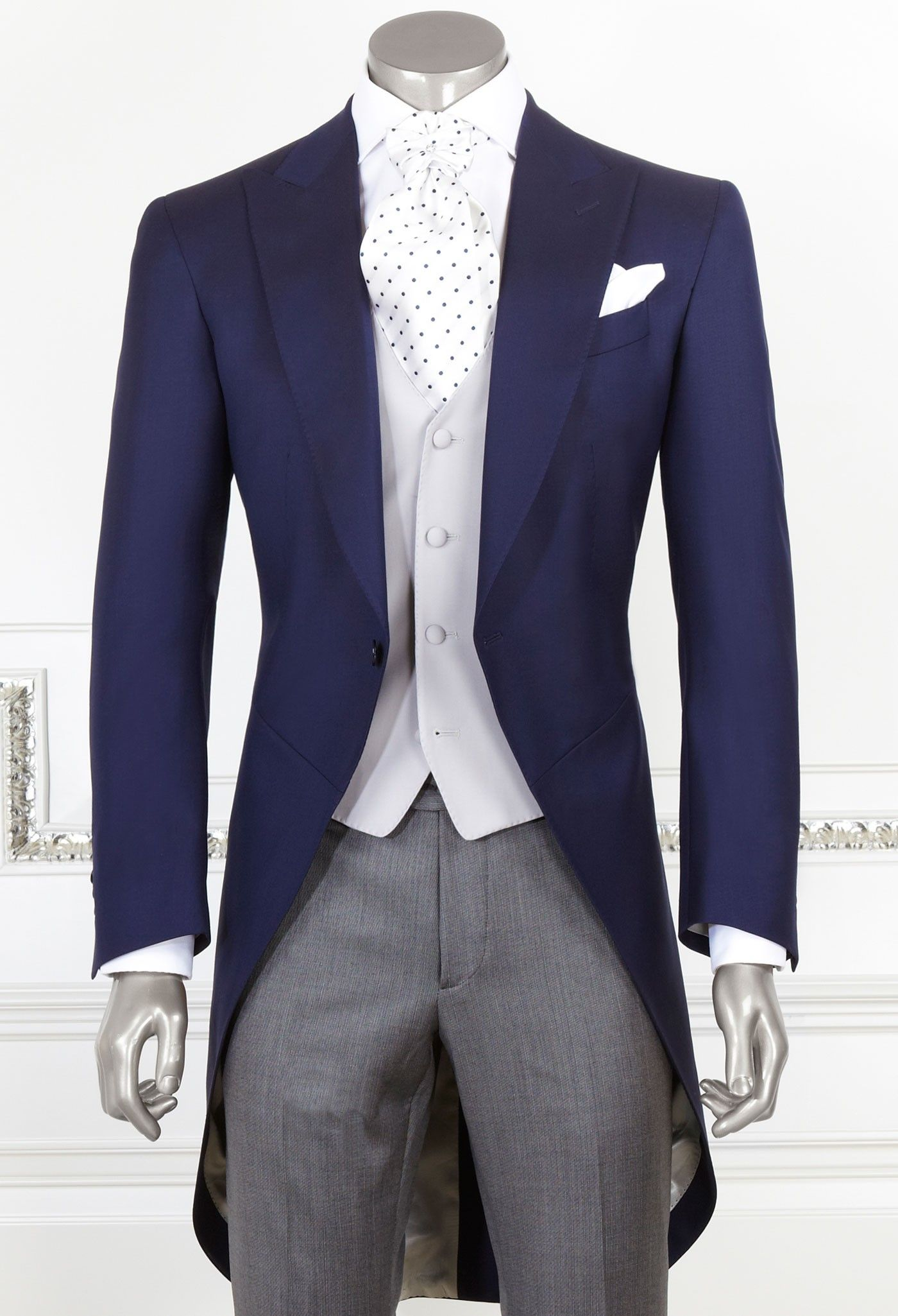 Dark Blue Morning Suit | Man Clothes on line | Made in Italy suits ...