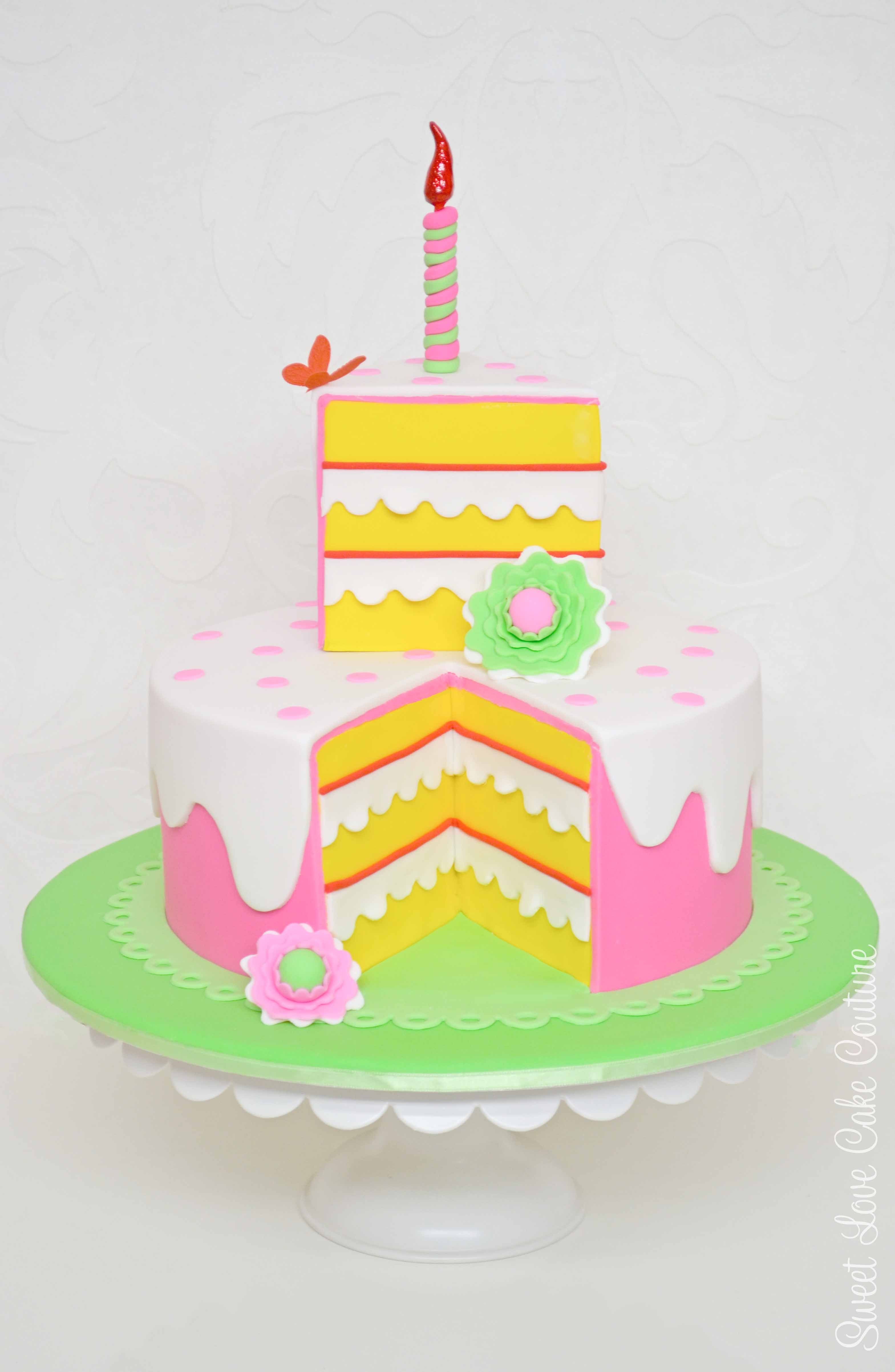 Cute and quirky with an extra special cake slice for the birthday girl