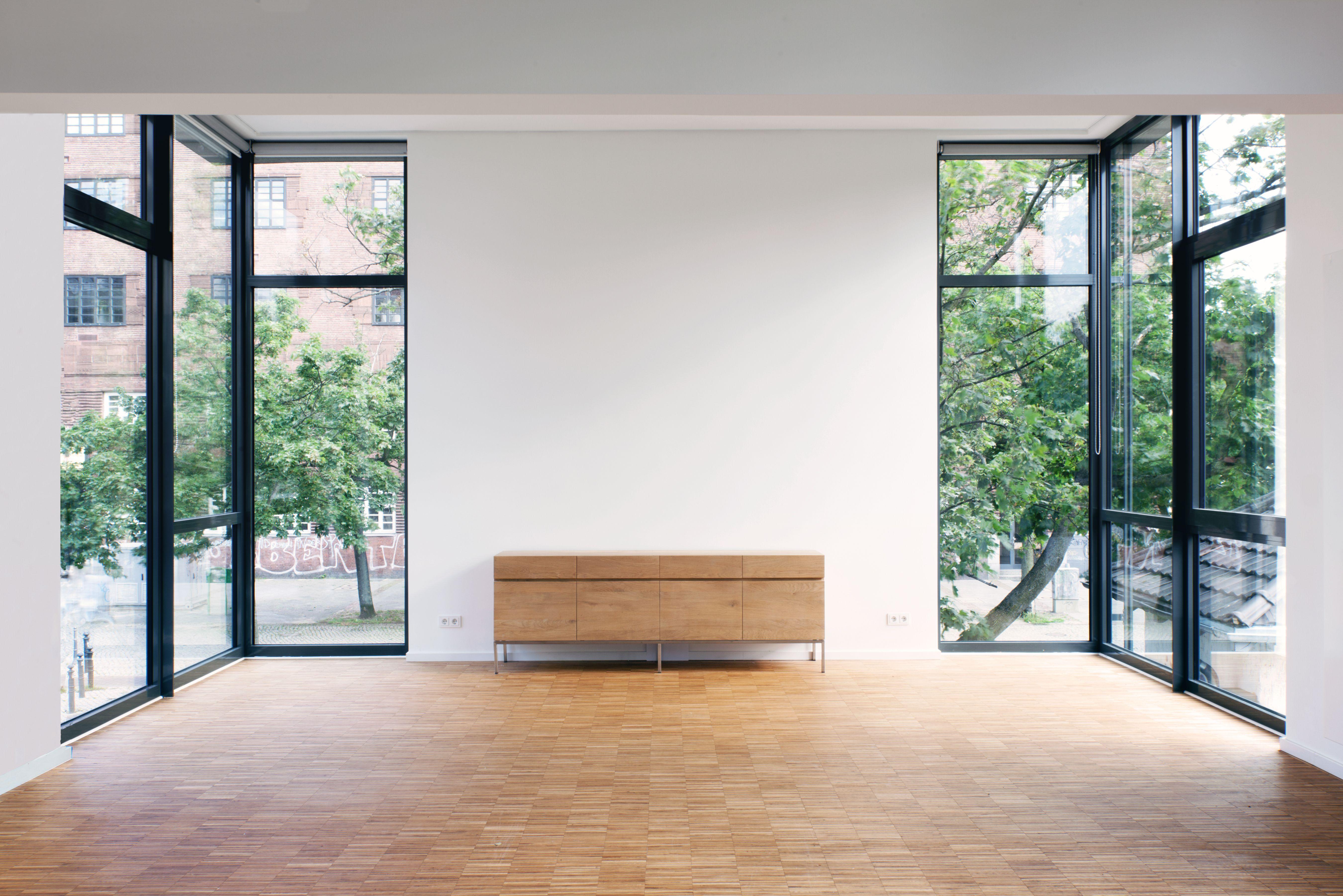 Workshop space in Residency House for GoetheInstitut at SilentGreen Kulturquartier Berlin Design by Max Dengler Architekten  KOMBINATIV Photo by Peter Lorenz