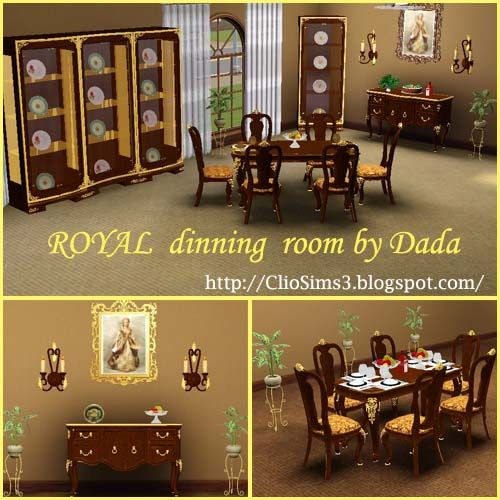 Royal Dinning Room By Dada At Clio Sims3 Social Sims Dinning Room Room Dinning