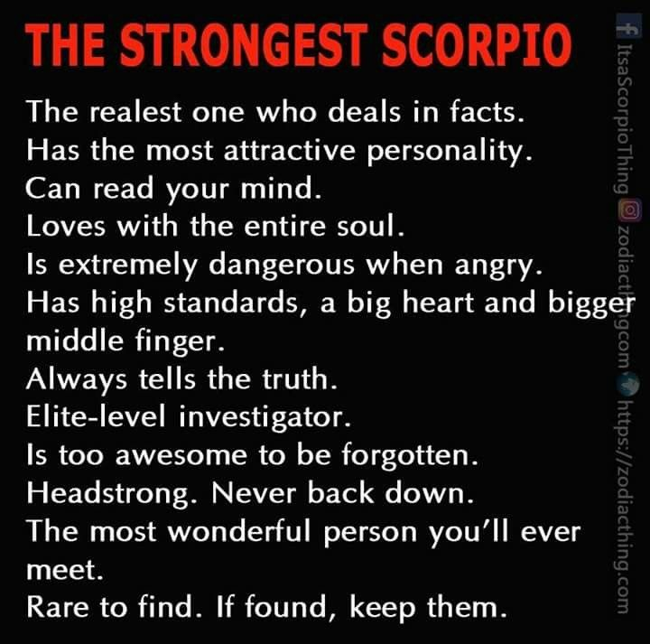 Sign scorpio strongest Scorpio Personality