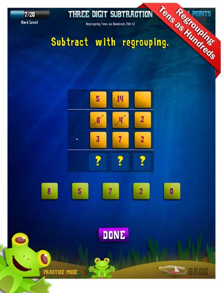 Second Grade Math Apps Three Digit Subtraction Count On Hundreds