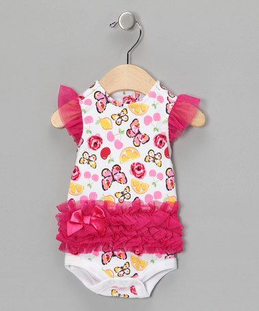 Love this! Take a look at this Pink Butterfly Tutu Bodysuit by Vitamins Baby on #zulily today!