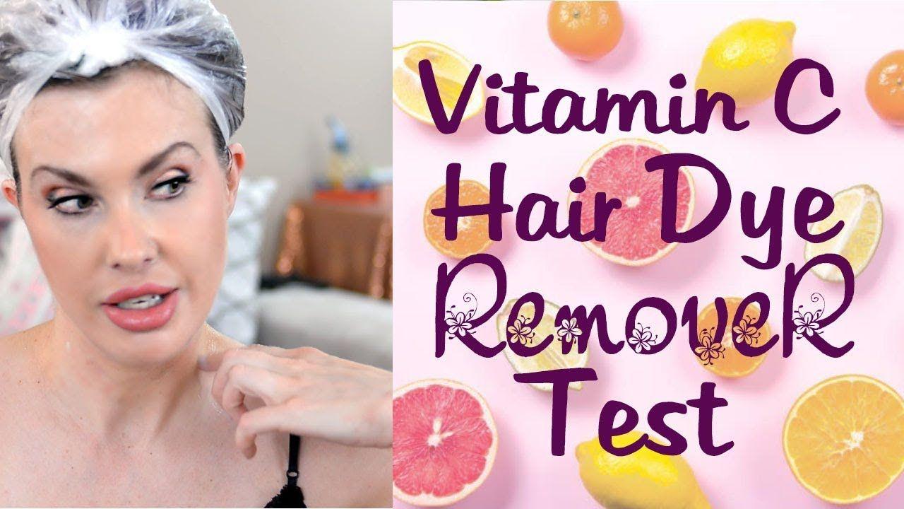 Vitamin C Hair Dye Removal Tested Hair Dye Removal Diy Hair Color Remover Hair Color Remover