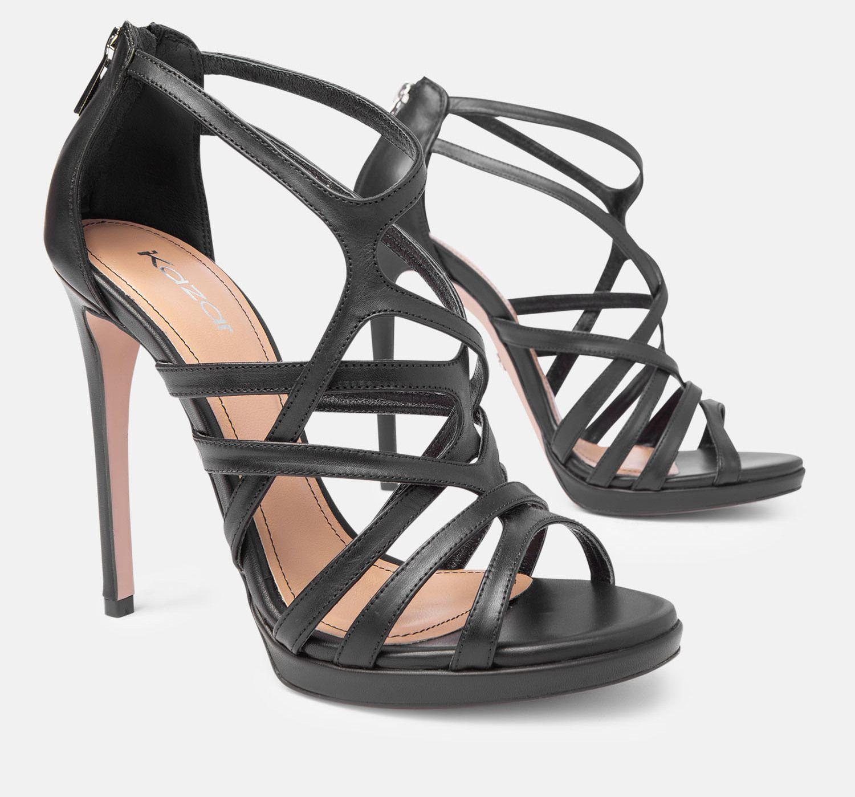 Sandaly Damskie Czarne 32769 01 00 Z Kolekcji 2016 Sklep Internetowy Kazar Shoes Gladiator Sandals Sandals