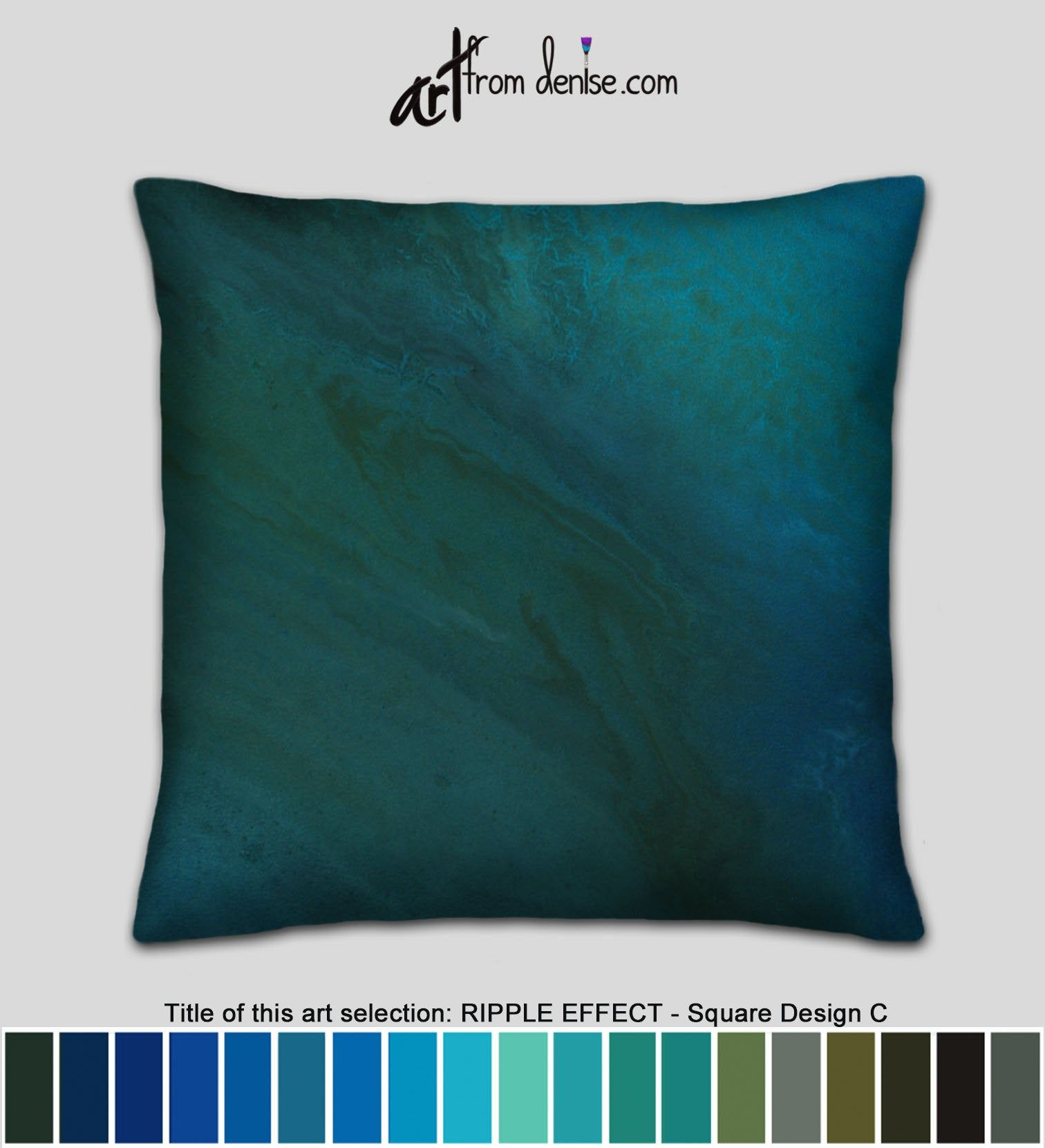 Small Or Large Throw Pillows Or Cover Turquoise Green Blue