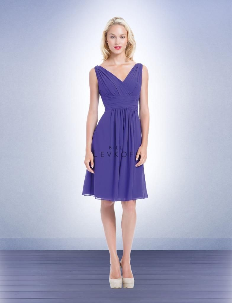 Short purple wedding dresses  Cool Awesome Bill Levkoff Bridesmaid Dress  Prom Wedding short