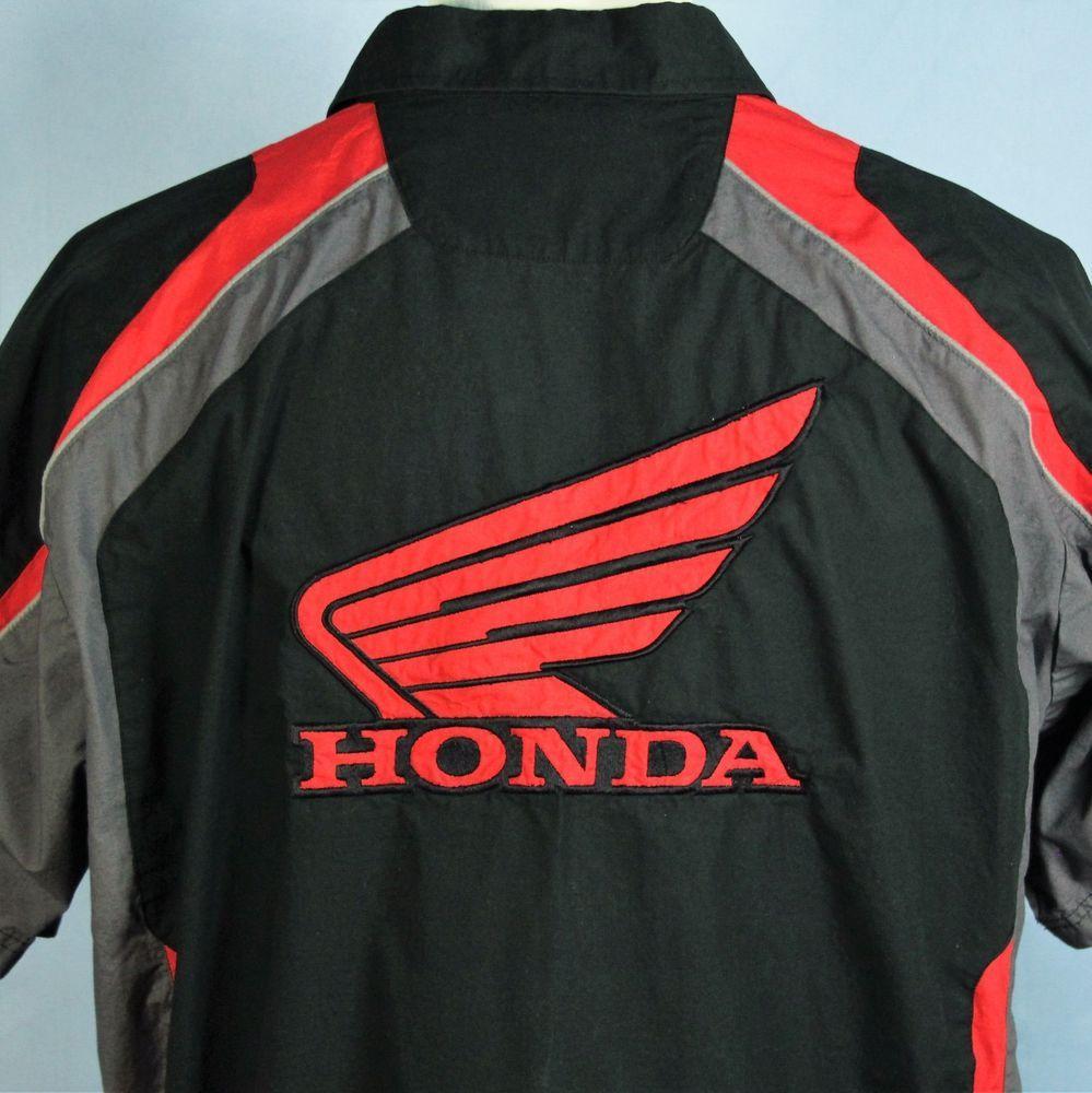 b8379f73 HONDA Racing Pit Crew Shirt Mechanics Embroidered The Power of Dreams Mens  XL #Honda #ButtonFront