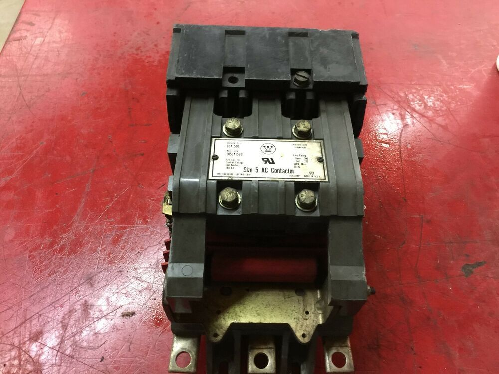 Used westinghouse size 5 3pole 120vac coil 600vac max