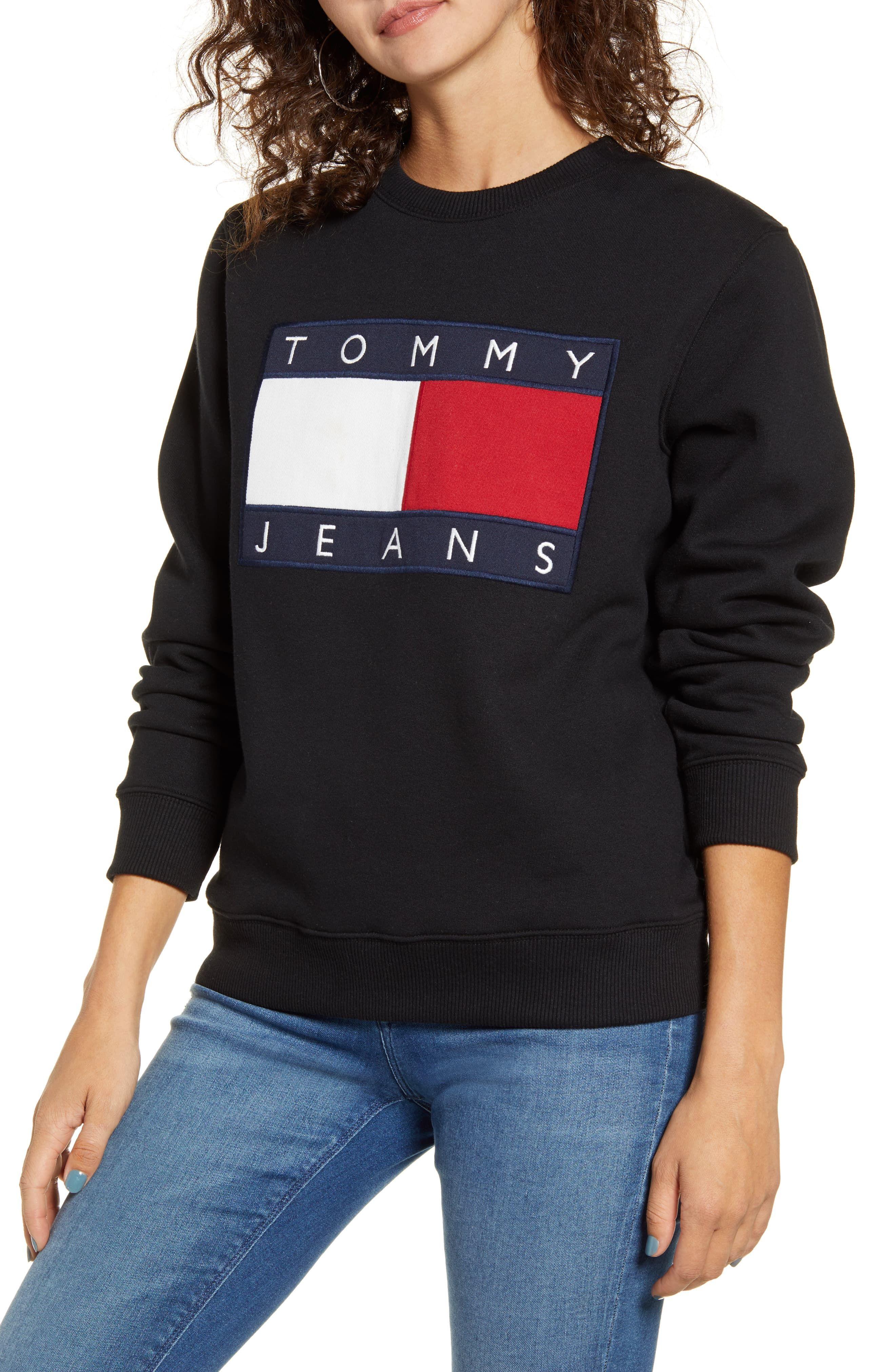 TOMMY JEANS Flag Sweatshirt | Sweatshirts, Crew neck