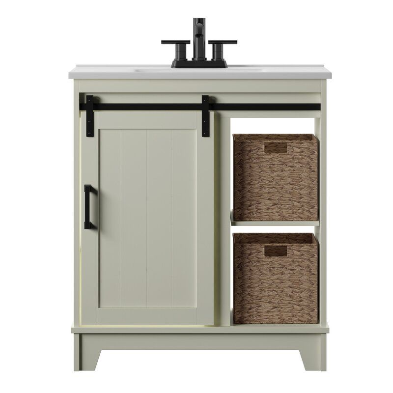 Burnette 30 Single Bathroom Vanity Set Single Bathroom Vanity Vanity Set Vanity Storage
