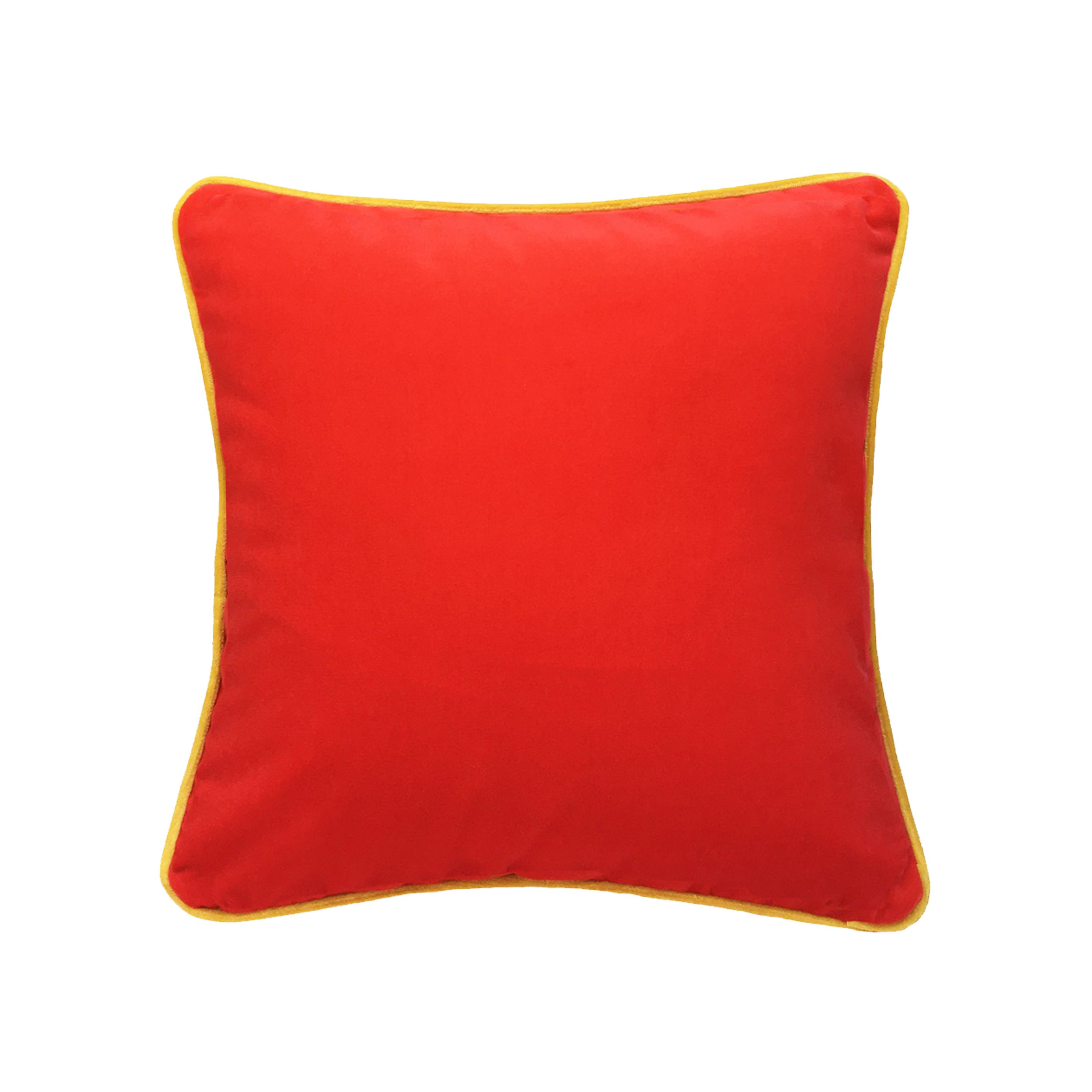 Coquelicot Coussin Velours Rouge 40x40 Coussin Velours Canape