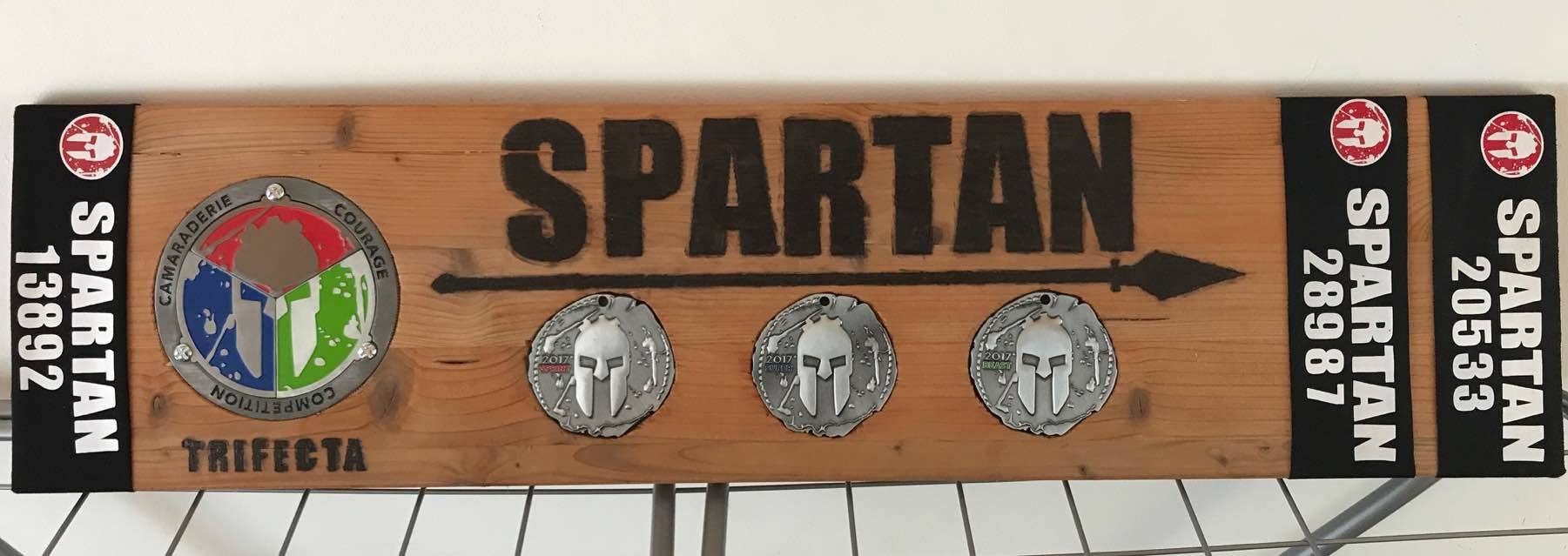 Trifecta Made For Spartan Medals For Spartan Race Trifecta Race Medal Display