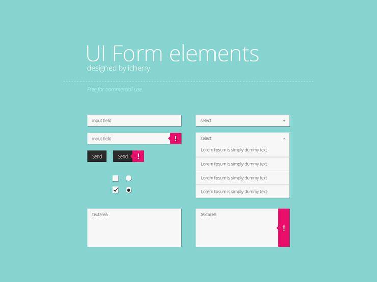 30 Free UI Kits | UI Design | Ui forms, Flat web design, Ui