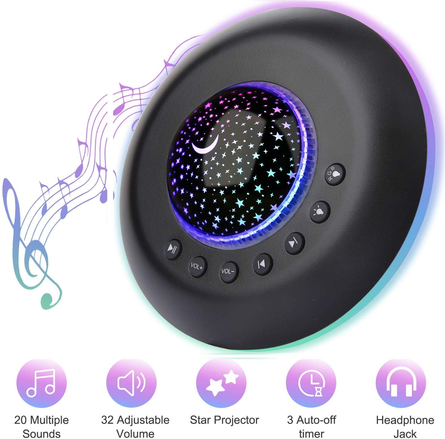 FEISIKE White Noise Machine with Lamp Light,Sound Machine