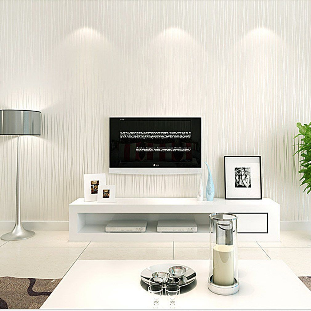 KINLO® Tapete Wand Vlies 10x0.53m(5.3m) Mustertapete Tapete Vlies 3d Tapete  Weiss Barock Für Wohnzimmer TOP Qualität Wandaufkleber Für Schlafzimmer ...