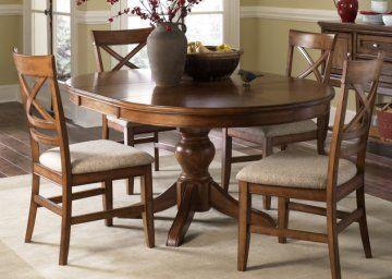 Barrington Oval Pedestal Dining Room Furniture Set  For The Home Amazing Oval Dining Room Table Set Design Inspiration