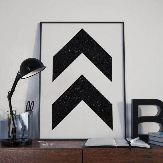 Vintage Chevron Arrows Printable Wall Art Decor Black And White Printable  Minimalist Printable Geometric Printable Office Decor